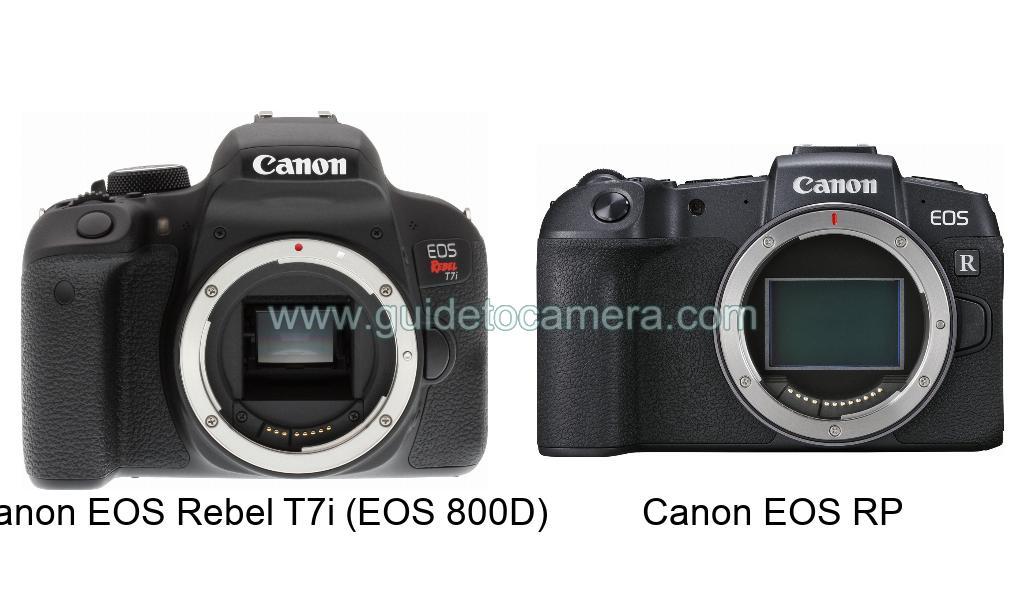 Canon EOS Rebel T7i (EOS 800D) vs Canon EOS RP Specification