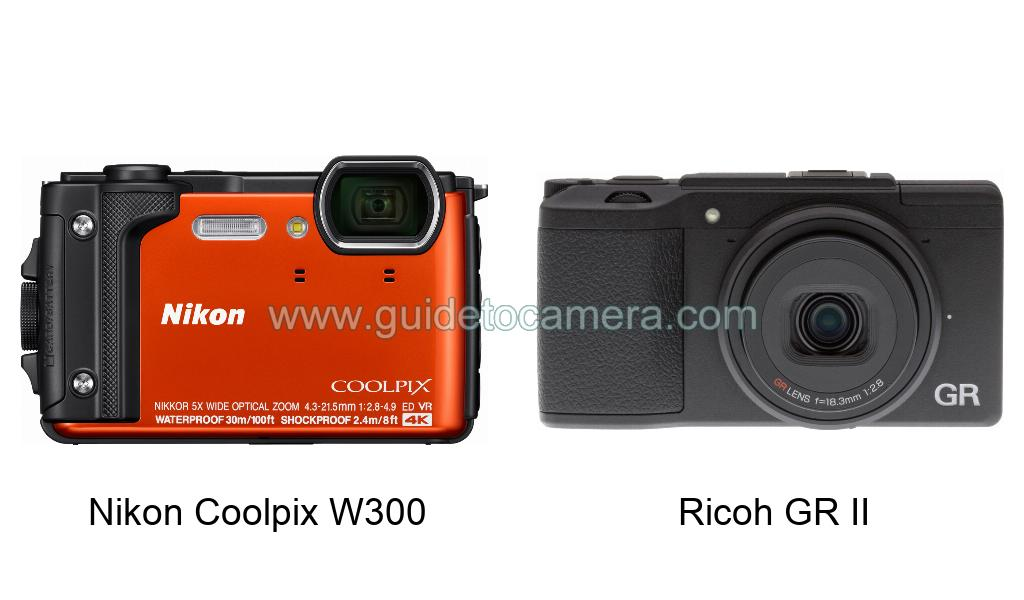 Nikon Coolpix W300 vs Ricoh GR II Specifications Comparison
