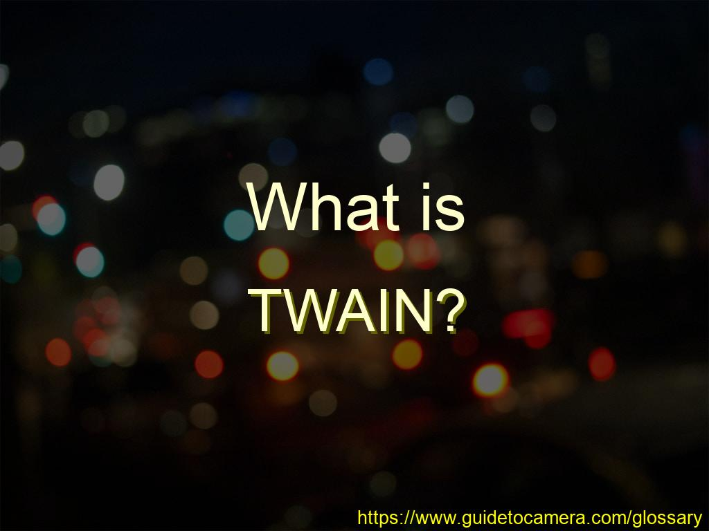 What is TWAIN?